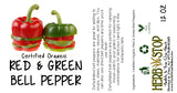 Red & Green Bell Pepper Label