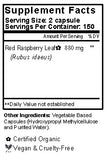 Red Raspberry Capsules Supplement Facts