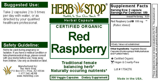 Red Raspberry Capsules Label