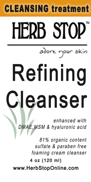 Refining Cleanser Label