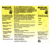 Rescue Remedy For Pets Label