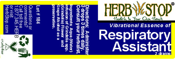 Respiratory Assistant Essence Label