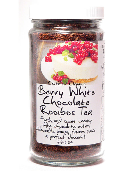 Berry White Chocolate Rooibos Tea - Glass Jar