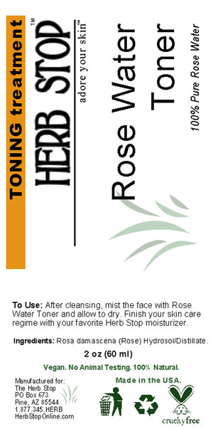 Rose Water Toner Label