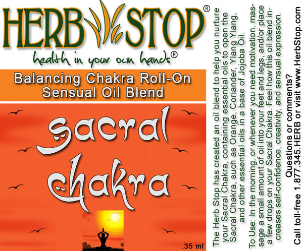 Sacral Chakra Aromatherapy Roll On Label