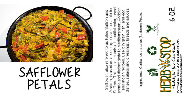 Safflower Petals Label