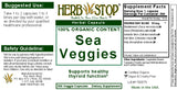 Sea Veggies Capsules Label