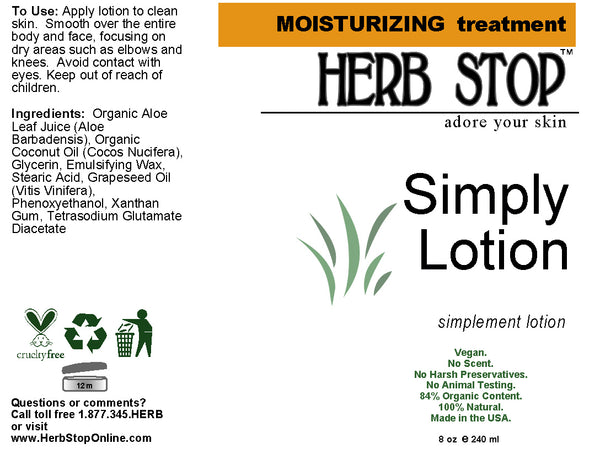 Simply Lotion Label