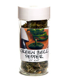 Green Bell Peppers - Glass Spice Jar