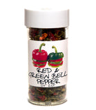 Red & Green Bell Peppers - Glass Spice Jar