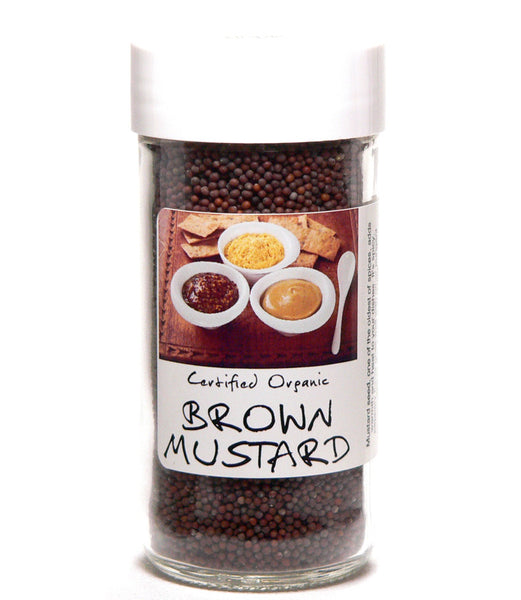 Brown Mustard Seed Whole - Glass Spice Jar
