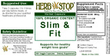Slim & Fit Capsules Label