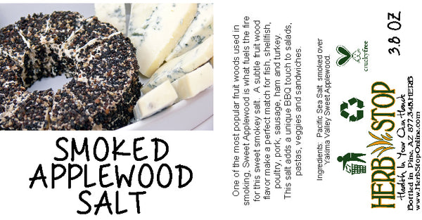 Smoked Applewood Salt Label