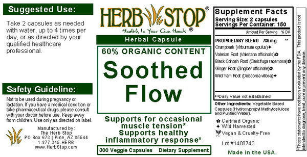 Soothed Flow Capsules Label