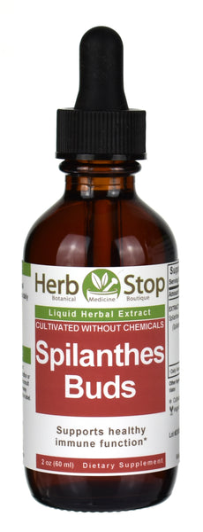 Spilanthes Buds Herbal Extract 2 oz Bottle