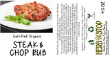 Steak & Chop Rub Label