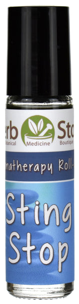 Sting Stop Essential Oil Aromatherapy Roll On Bottle