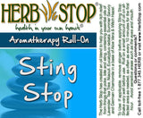 Sting Stop Roll-On Oil Blend Label