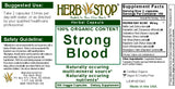 Strong Blood Capsules Label