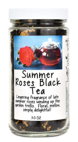 Summer Roses Black Tea Jar