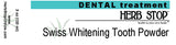 Swiss Whitening Tooth Powder Label