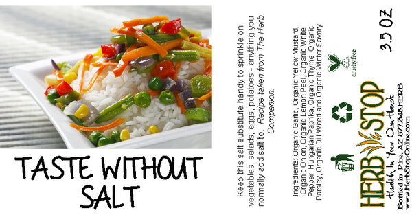 Taste Without Salt Label