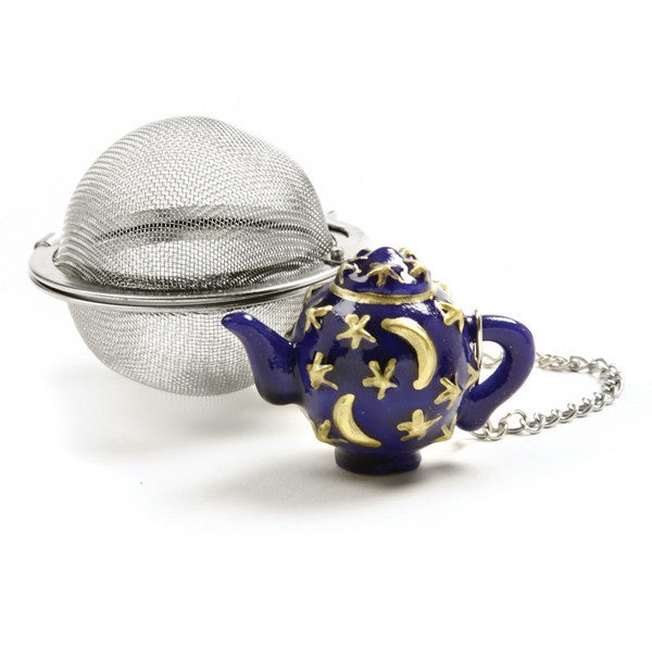 2 Inch Mesh Tea Ball Infuser with Celestial Teacup Weight