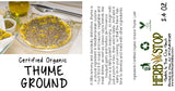 Organic Thyme Ground Label