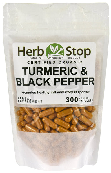 Turmeric Black Pepper Organic Capsules Bag