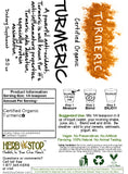 Turmeric Powder for Shakes Label
