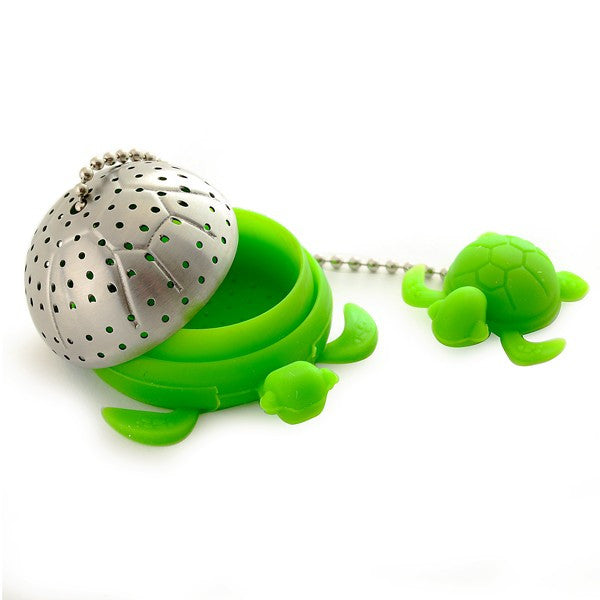 Turtle Tea Infuser Ajar