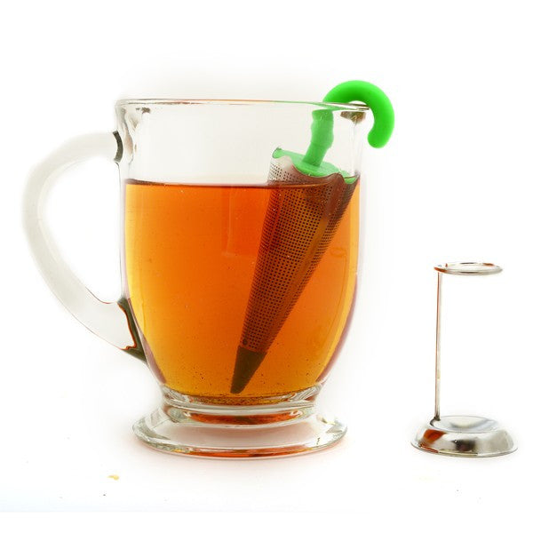 Umbrella Tea Infuser with Drip Catcher and Stand Infusing