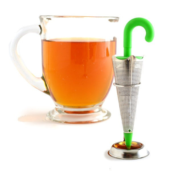 Umbrella Tea Infuser with Drip Catcher and Stand and Tea