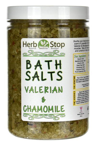 Valerian & Chamomile Bath Salts Jar