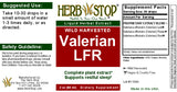 Valerian Leaf, Flower, & Root Extract Label