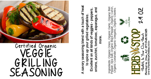 Veggie Grilling Seasoning Label