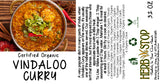 Vindaloo Curry Label