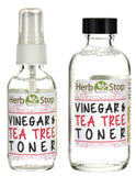 Vinegar & Tea Tree Toner Bottles Group