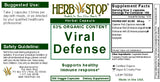 Viral Defense Capsules Label