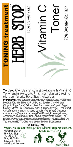 Vitamin C Toner Label