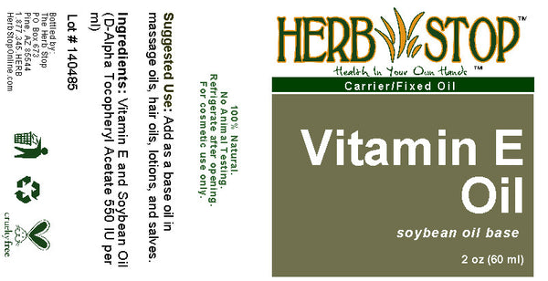 Vitamin E Oil 2 oz Label