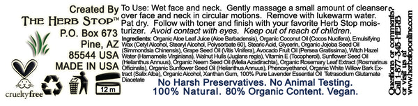 Walnut Cleansing Cream Label