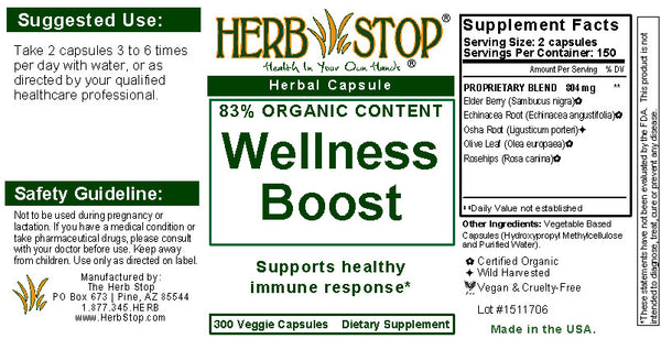 Wellness Boost Capsules Label
