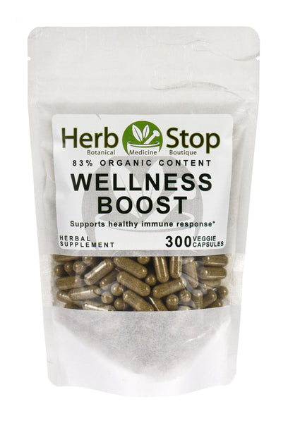 Wellness Boost Organic Capsules Bulk Bag