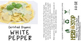 White Pepper Ground Label