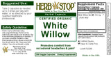 White Willow Capsules Label