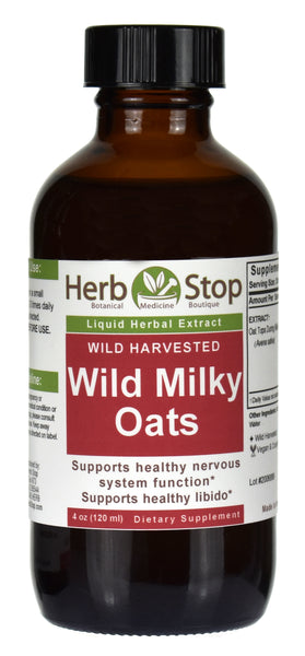 Wild Milky Oats Extract 4 oz Bottle