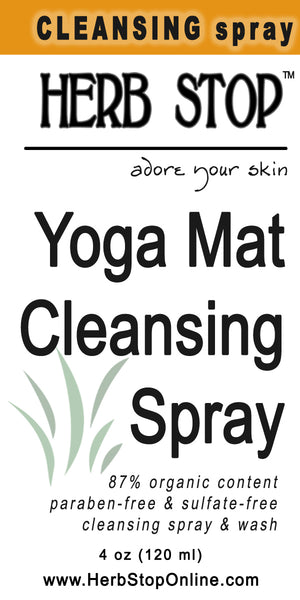 Yoga Mat Cleansing Spray Label