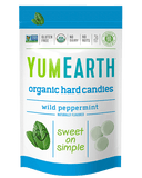 YumEarth Wild Peppermint Hard Candies Label