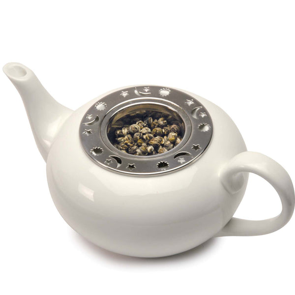 Celestial Laser Etched Tea Infuser with Teapot